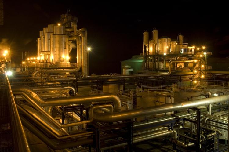 (Multiple values) Vistas noturnas da Unidade industrial Vertente.