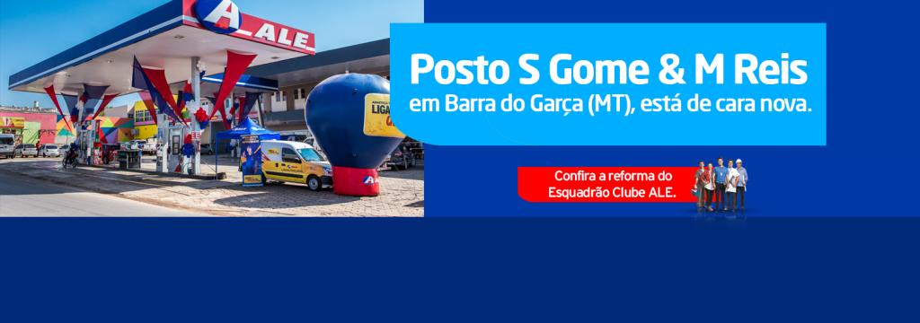 Posto S Gomes & M Reis recebe reforma do Esquadrão Clube ALE