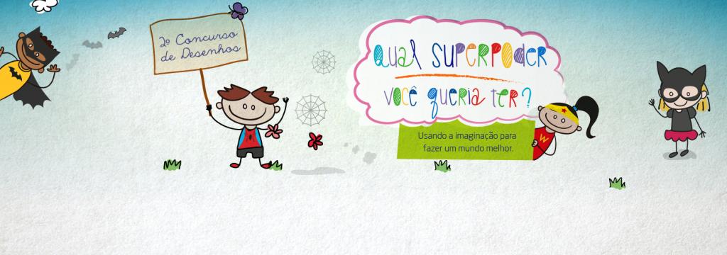 Convide uma criança para soltar a criatividade no 2º Concurso de Desenhos!