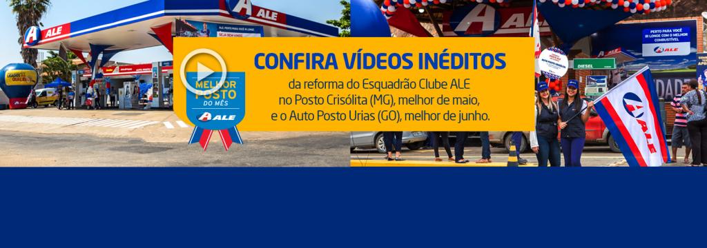 Auto Posto Crisólita (MG) e Auto Posto Urias (GO) estão de cara nova. Confira os vídeos do Esquadrão Clube ALE!
