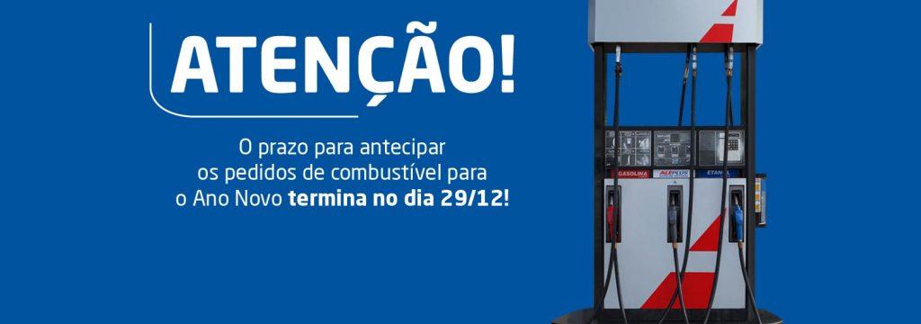 Antecipe até o dia 29/12 seu pedido de combustível para o Ano Novo!