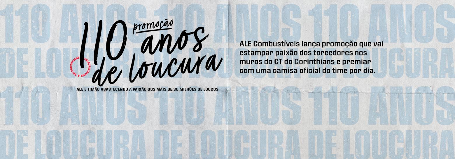 ALE Combustíveis lança promoção que vai estampar paixão dos torcedores nos muros do CT do Corinthians e premiar com uma camisa oficial do time por dia