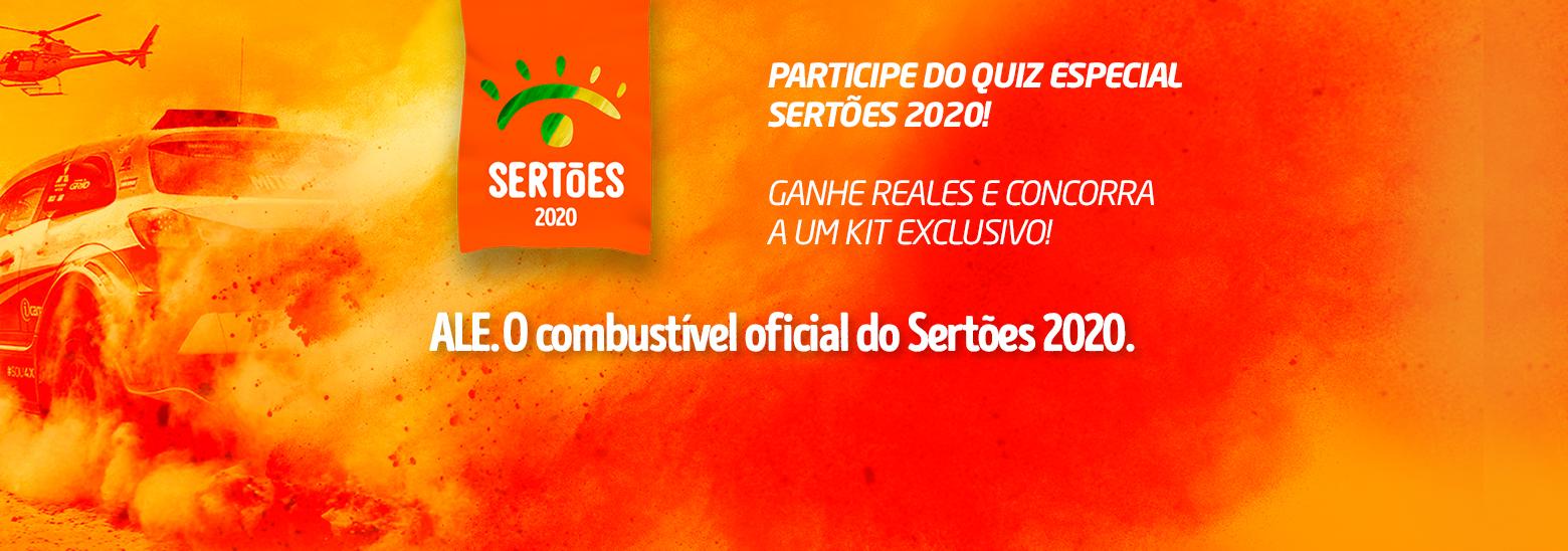 Participe do QUIZ especial Sertões 2020, ganhe Reales e concorra a um kit exclusivo!
