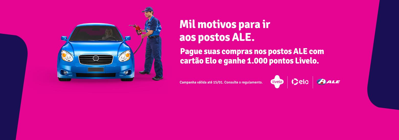 Ao usar cartões Elo para pagar suas compras no Clube ALE + Livelo seu cliente ganha mil pontos Livelo