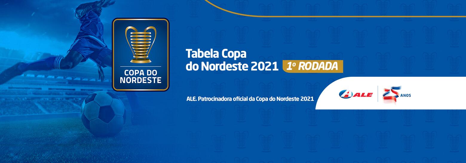 CBF divulga a tabela da Copa do Nordeste 2021