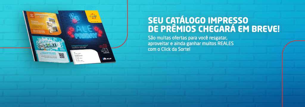Os catálogos estão chegando e o Click da Sorte está de volta!